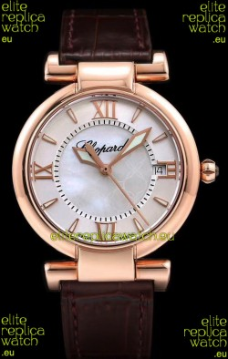 Chopard Imperiale White Dial Swiss Automatic Replica Watch in Rose Gold Case 904L Steel