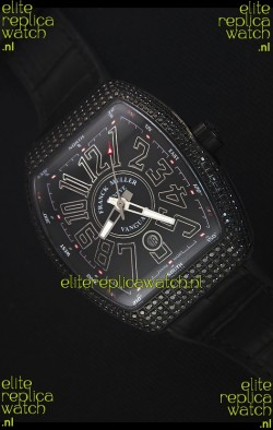 Franck Muller Vanguard Swiss Replica Watch in PVD Coated Case