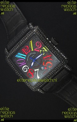 Franck Muller Conquistador King Automatic Crazy Colors Swiss Replica Watch PVD Case