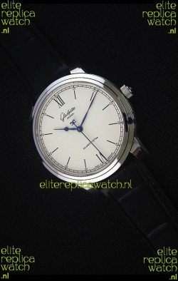 Glashuette Senator Excellence Cream Dial Steel Case Swiss Replica Watch