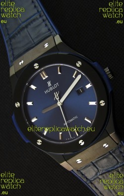 Hublot Classic Fusion Ceramic Blue Swiss Replica Watch - 1:1 Mirror Replica