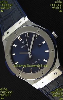 Hublot Classic Fusion Blue Titanium Swiss Replica Watch - 1:1 Mirror Replica