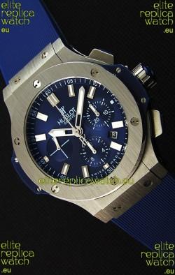 Hublot Big Bang Steel Blue Swiss Replica Watch 1:1 Mirror Replica