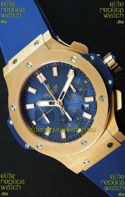 Hublot Big Bang Pink Gold Blue Swiss Replica Watch 1:1 Mirror Replica