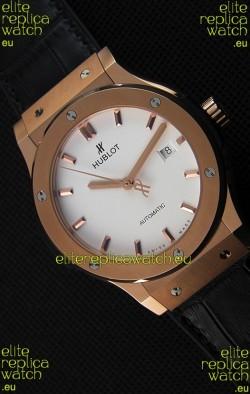 Hublot Classic Fusion King Gold Opalin Swiss Replica Watch - 1:1 Mirror Replica