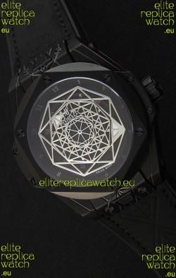 Hublot Big Bang Sang Bleu 45MM Black PVD Coated Swiss Replica Watch
