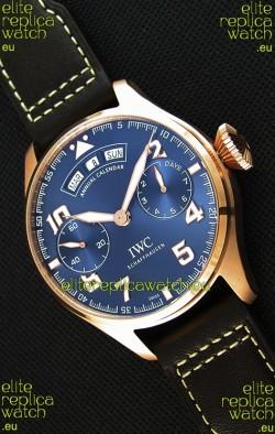 IWC Big Pilot Annual Calender Steel Blue Dial 1:1 Mirror Replica