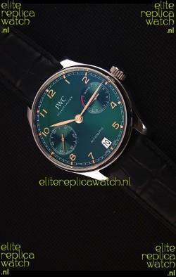 IWC Portugieser Swiss Updated Version - 1:1 Mirror Replica Watch Green Dial Steel Case Watch