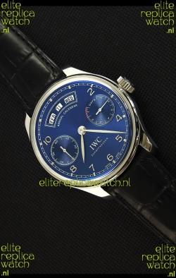 IWC Portugieser Annual Calender Midnight Blue IW503502 1:1 Mirror Replica Watch