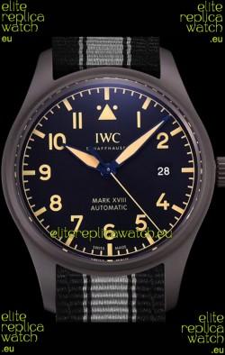 IWC Pilot's MARK XVIII Heritage 1:1 Swiss Watch 904L Steel Casing Black Matte Finishing