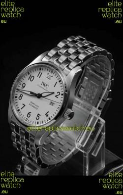 IWC MARK XVIII Swiss Replica Watch in 904L Steel White Dial 40MM - 1:1 Mirror Replica