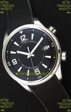 Jaeger-LeCoultre Polaris Black Dial Watch with Nylon Strap 1:1 Mirror Replica