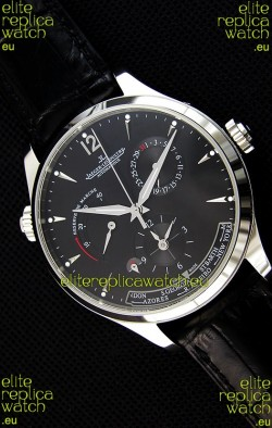 Jaeger LeCoultre Master Geographic Power Reserve Steel Case Swiss Replica Watch