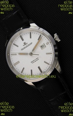 Jaeger LeCoultre Geophysic True Second Steel Case Watch White Dial