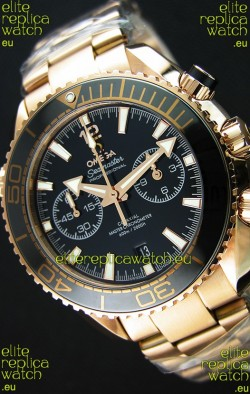 Omega Seamaster Planet Ocean 600M Chronograph 1:1 Mirror Replica Pink Gold Watch