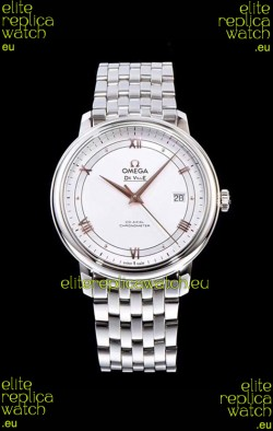 Omega De Ville Prestige Co-Axial 36.8MM White Dial 1:1 Swiss Mirror Replica Watch