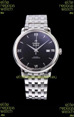 Omega De Ville Prestige Co-Axial 36.8MM Black Dial 1:1 Swiss Mirror Replica Watch