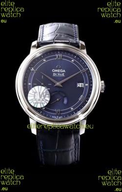 Omega De Ville Prestige Power Reserve 904L Steel 1:1 Mirror Swiss Watch Blue dial