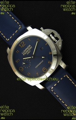 Panerai Luminor Marina GMT Ceramica Stainless Steel Japanese Replica Watch
