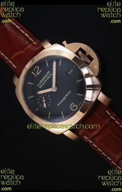 Panerai Luminor Marina PAM393 42MM Swiss Rose Gold Replica Watch