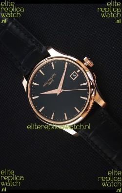 Patek Philippe #Ref 5227 Yellow Gold Watch in Black Dial 1:1 Swiss Replica Watch