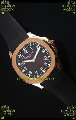 Patek Philippe Aquanaut Jumbo Rose Gold 1:1 Mirror Replica Watch - Wine Colored Dial