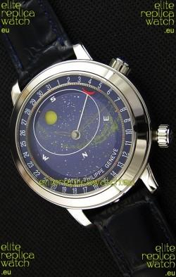 Patek Philippe Grand Complication 6102P Celestial Moon Age Blue Dial Swiss Replica Watch