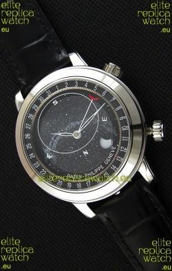 Patek Philippe Grand Complication 6102P Celestial Moon Age Grey Dial Swiss Replica Watch