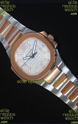 Patek Philippe Ladies Nautilus Two Tone Rose Gold Watch 36MM