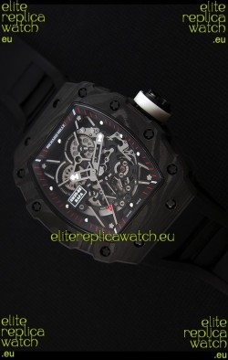 Richard Mille RM35-2 Rafael Nadal Forged Carbon Case with Black Strap