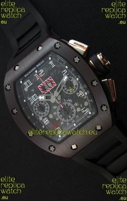 Richard Mille RM011-FM Felipe Massa One Piece Ceramic Case Watch in Black Strap