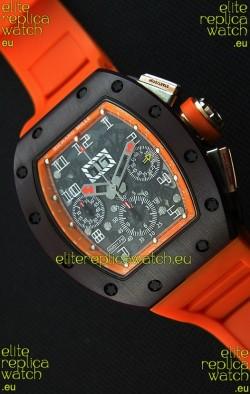 Richard Mille RM011-FM Felipe Massa One Piece Ceramic Case Watch in Orange Strap