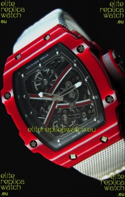 Richard Mille 67-02 Mutaz Barshim Forged Carbon Swiss Replica Watch