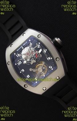Richard Mille RM001 Evolution Tourbillon Swiss Replica Watch with Bead Blasted Satin Matte Case
