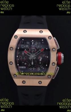 Richard Mille RM011-FM Felipe Massa Rose Gold Casing Swiss Replica Watch