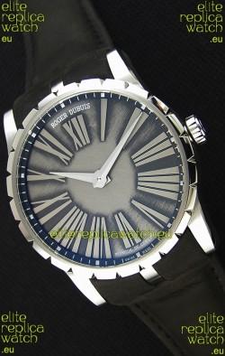 Roger Dubuis Excalibur Steel Case Grey Dial Swiss Replica Watch