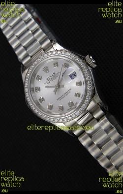 Rolex Datejust Ladies Diamonds Markers Swiss Watch CAL.2236 Movement 1:1 Mirror Replica