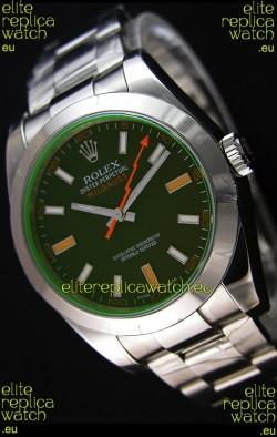 Rolex Milgauss 116400M Swiss Watch with Black Dial - Ultimate 904L Steel Watch