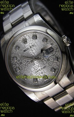 Rolex Datejust 36MM Cal.3135 Movement Swiss Replica Watch in Steel White Steel Dial