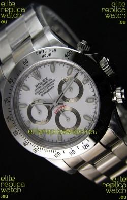 Rolex Cosmograph Daytona 116520 White Dial Original Cal.4130 Movement - Ultimate 904L Steel Watch