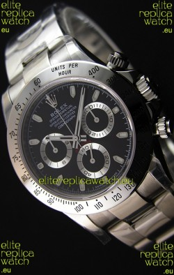 Rolex Cosmograph Daytona 116520 Black Dial Original Cal.4130 Movement - Ultimate 904L Steel Watch