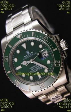 Rolex Submariner Ref#116610LV The Hulk Swiss Replica 1:1 Mirror - Ultimate 904L Steel Watch