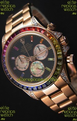 Rolex Cosmograph Daytona 116595RBOW Rverose  1:1 Mirror Replica Cal.4130 Movement