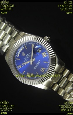 Rolex Day Date Dark Blue Dial Replica Watch 40MM - 3255 Swiss Movement