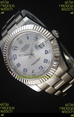 Rolex Datejust II 41MM with Cal.3136 Movement Swiss Replica Watch in Arabic Numerals