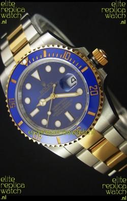 Rolex Submariner 16613 Two Tone Ceramic Bezel Swiss Replica 1:1 Watch with Swiss 3135 Movement