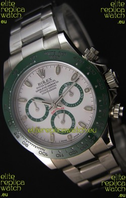 Rolex Cosmograph Daytona White Dial Green Ceramic Original Cal.4130 Movement - Ultimate 904L Steel Watch