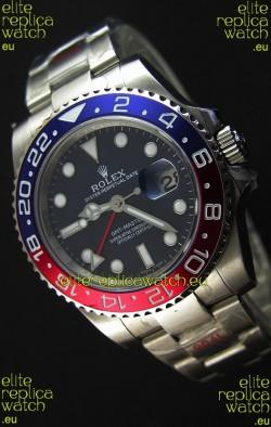 Rolex GMT Masters II 116719BLRO Pepsi Bezel Cal.3186 Movement Swiss Replica - Ultimate 904L Steel Watch