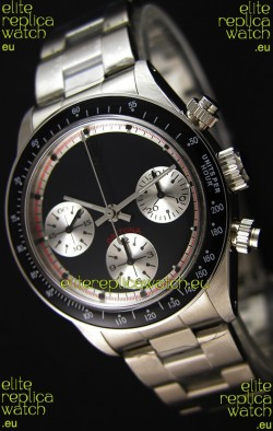 Rolex Daytona Paul Newman Blacked out Swiss Replica Watch - 904L Steel Watch