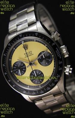 Rolex Daytona Vintage REF 6264 Off-White Dial Swiss Replica Watch - 904L Steel Watch